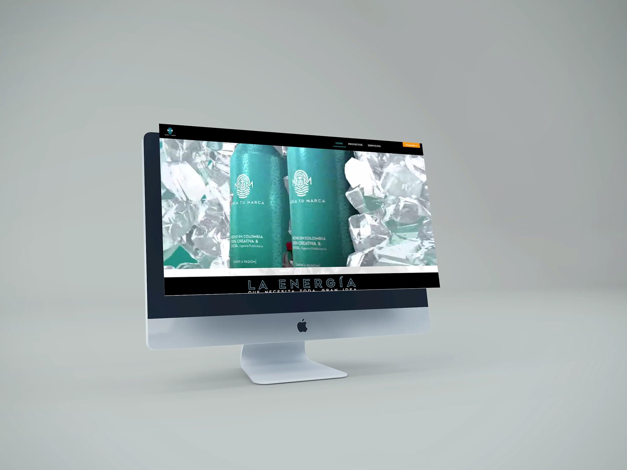 sitio web de agencia de publicidad