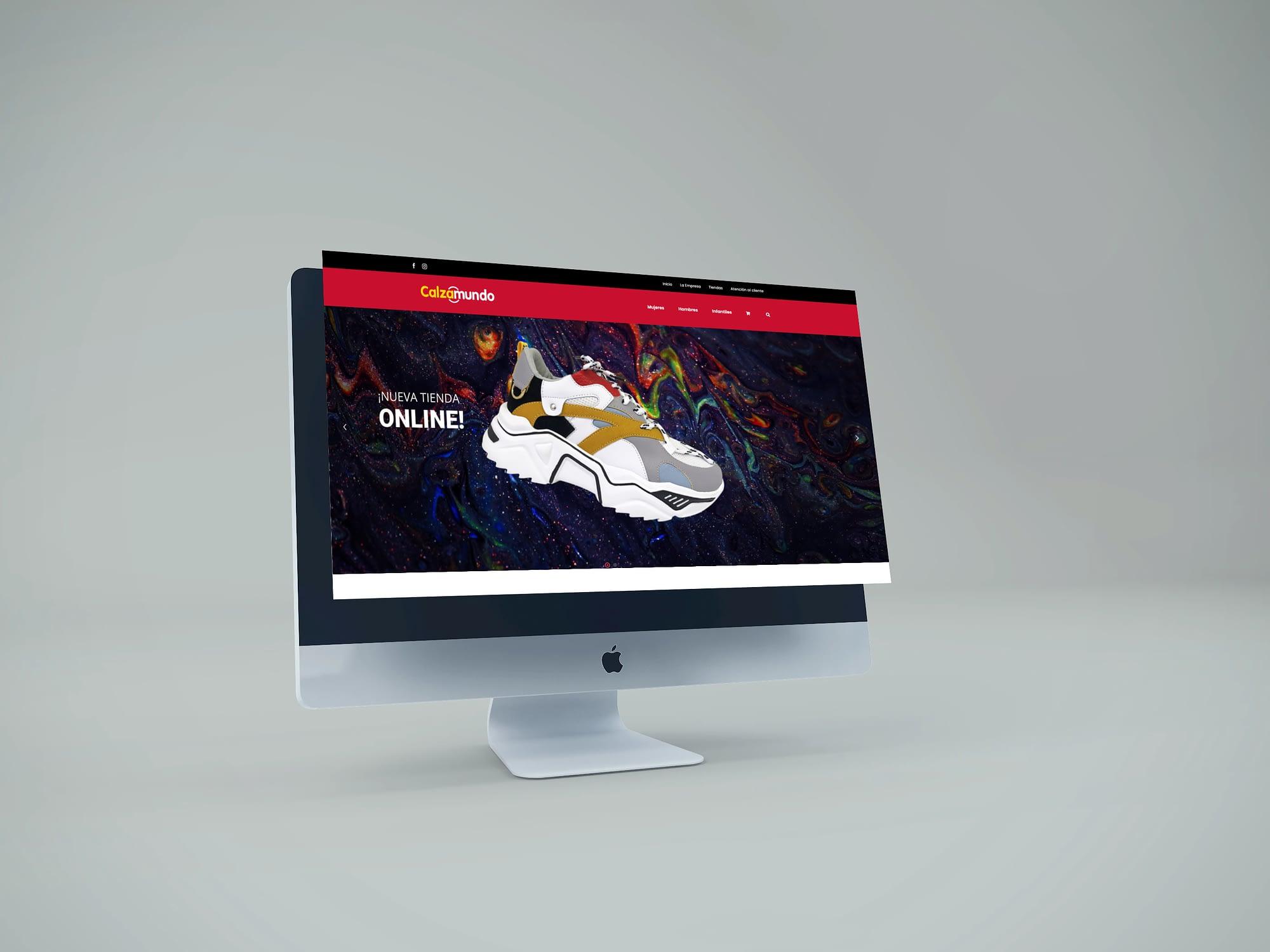 diseño web de tienda online de calzados